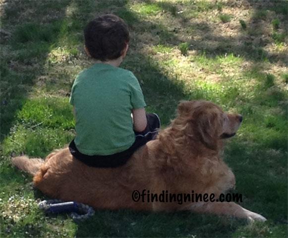 Michael and his dog