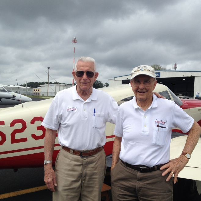 Co-pilot Bill Doty and Pilot Bob Wall