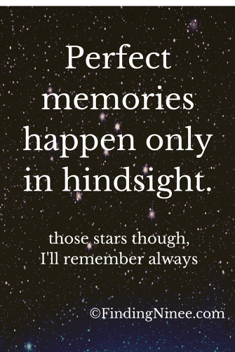 Perfect memories only happen in hindsight
