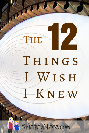 12 things I wish I knew