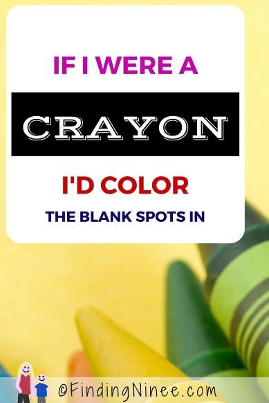 If I were a crayon, I
