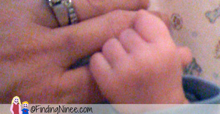 what it feels like to be a mom his fingers wrapped around yours