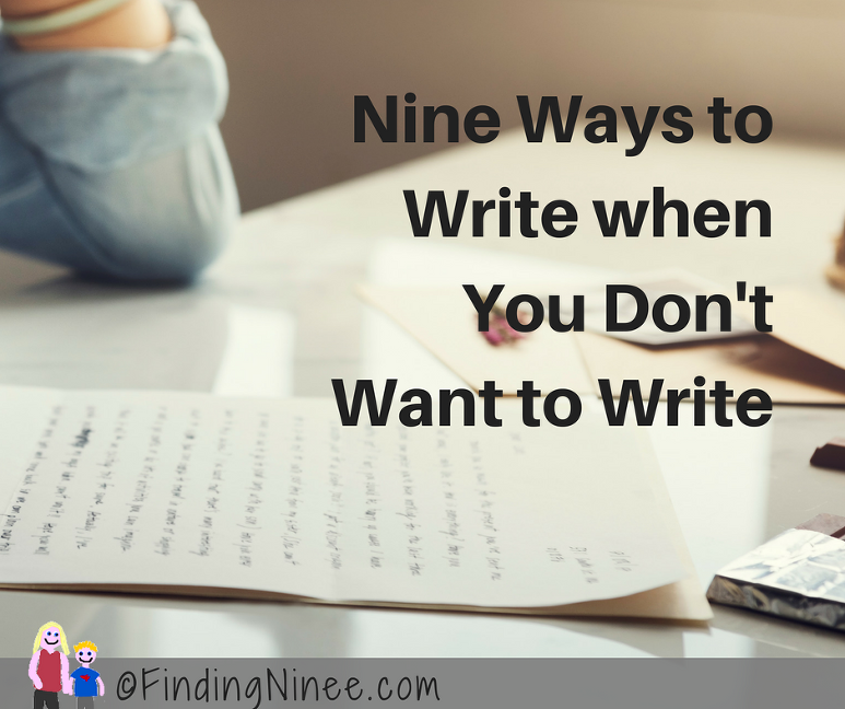 Nine Ways to Write when You Don